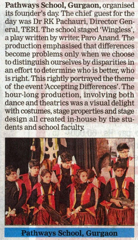 Pathways Gurgaon Founder's Day Coverage - Education Times