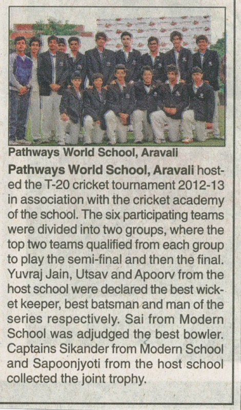 Pathways YSCE Cricket Tournament coverage - Delhi Times