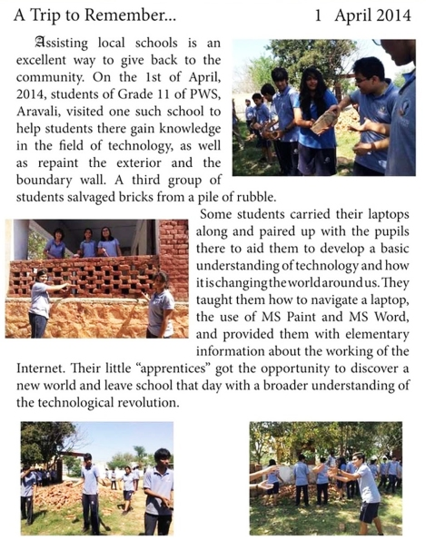 Print - Community Service by Grade 11 - Pathways World School, A