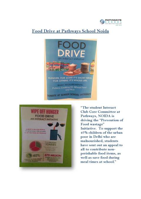 Food Drive at Pathways School Noida