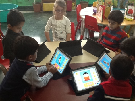 Pathways School Noida_Early Learners learning through iPads